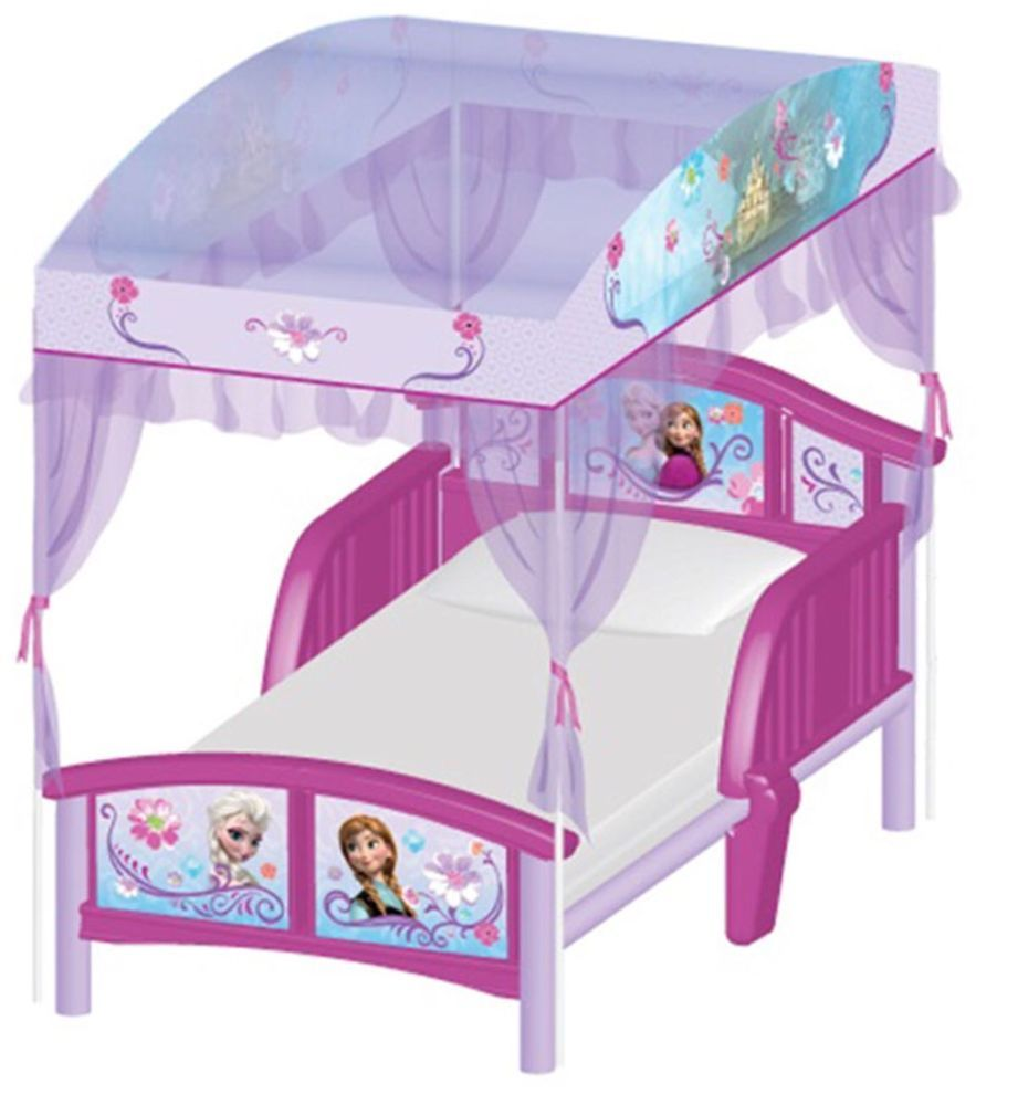 Licensed Disney Frozen Elsa Anna kids toddler bed with Canopy 15 mth +  sc 1 st  Pinterest & Frozen Kids Bedroom and Decor - itu0027s BABY time! | Disney Frozen ...