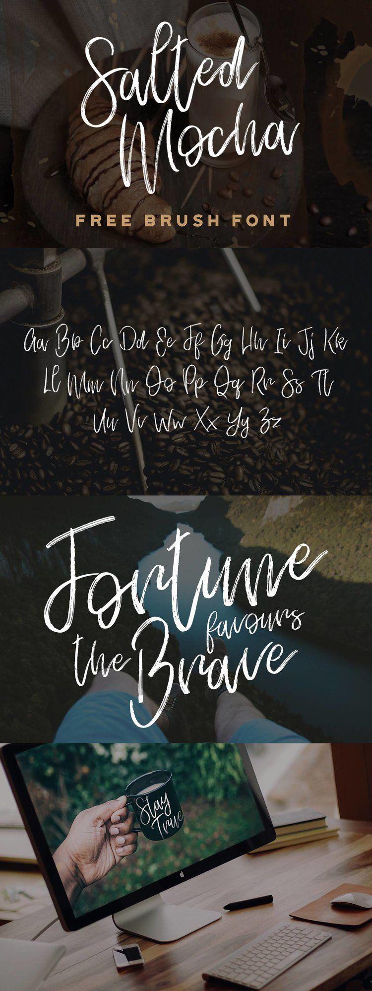 Download SALTED MOCHA | Free brush script font, Brush font, Script ...