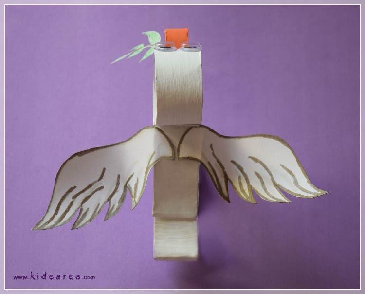Paloma blanca manualidades sobre el d a de la paz - Manualidades para ninos faciles y divertidas ...