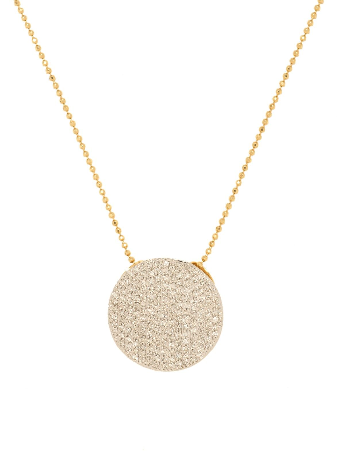 Phillips house 14k yellow gold pave diamond disc pendant necklace at phillips house 14k yellow gold pave diamond disc pendant necklace at london jewelers mozeypictures Choice Image