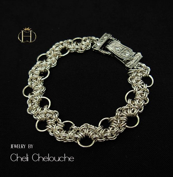 Chainmail bracelet-these bracelets are very time consuming!