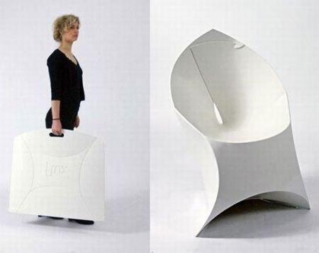 Flux Chair Folds Flat Assembles Into An Origami Like Lounge Seat