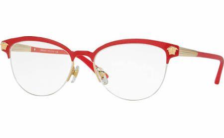 ba4bf488022 Versace VE 1235 Eyeglasses - (1376)Red Gold Demo Lens - 53-17-140 ...