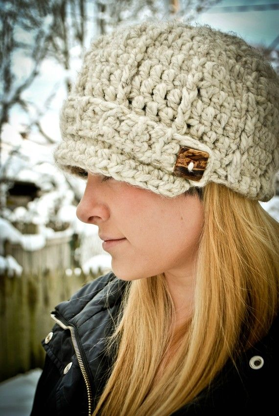 Women\'s Hat Baker Boy Brimmed Newsboy Crochet Handmade | Pinterest ...