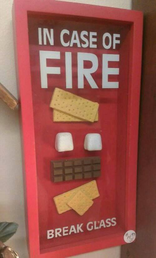 In case of fire! #firefighter #firefighting #fire #smores #emergency #911