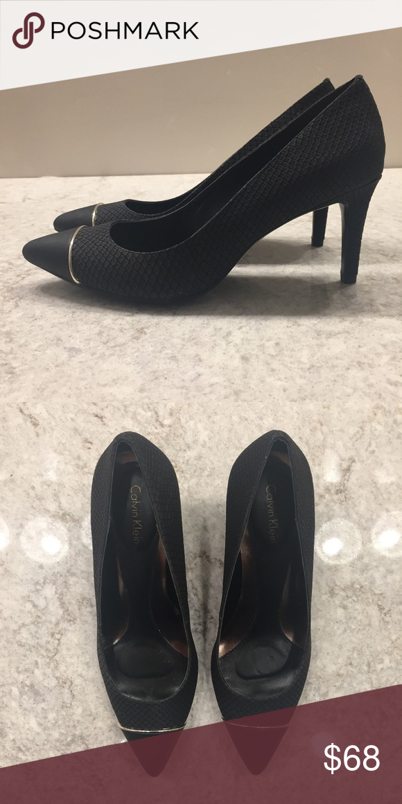 New 🌟 CALVIN KLEIN Black Heels Pumps 7