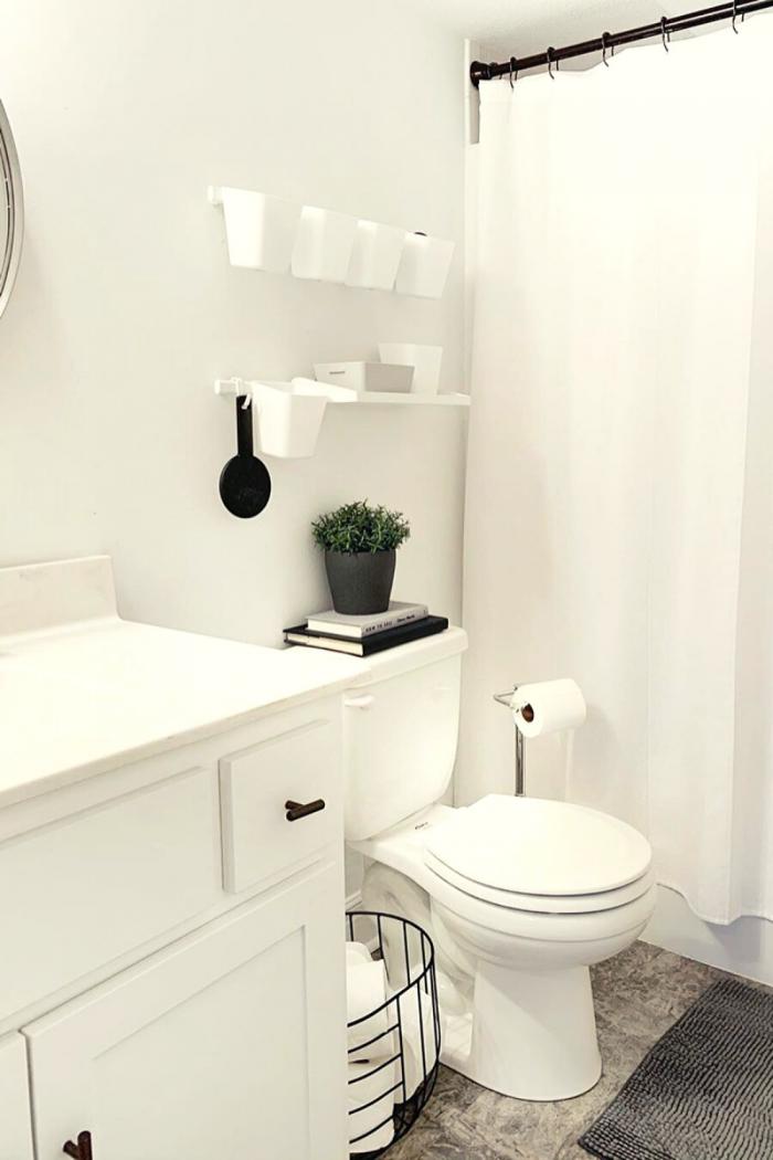 White Bathroom Storage Ideas