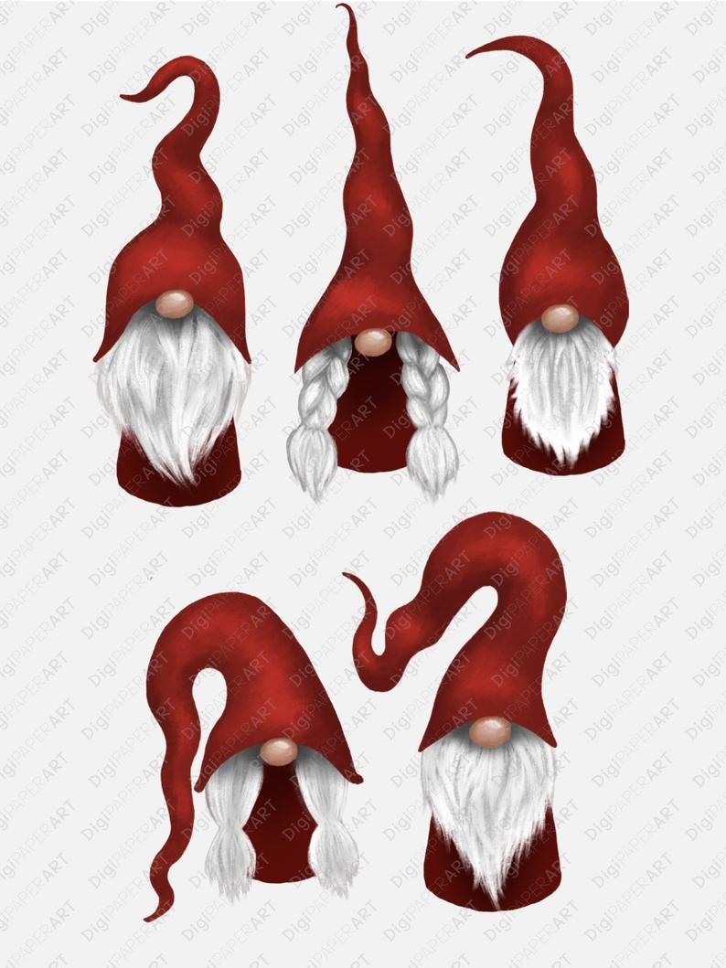 Scandinavian Gnome Clipart Christmas Gnomes Clipart Nordic Etsy In 2020 Christmas Gnome Nordic Gnomes Christmas Paintings