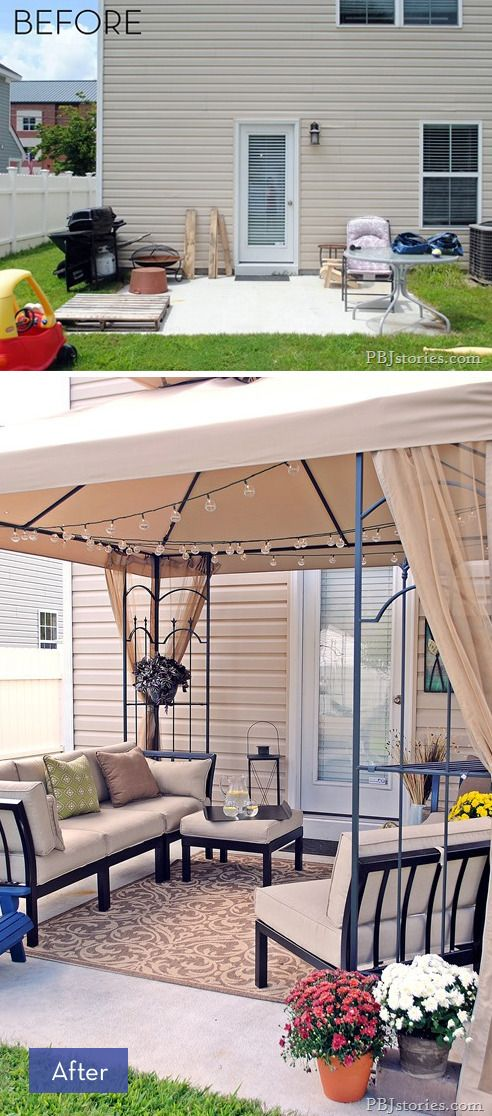 Incroyable 8 Amazing Backyard Makeovers That Are Perfect For Entertaining Outdoor  Furniture Small Space, Small Patio