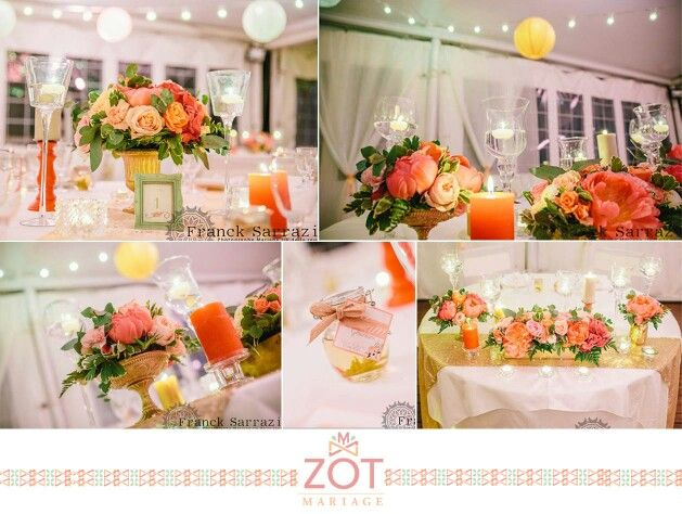 zot mariage peach amp coral wedding decor mariages by