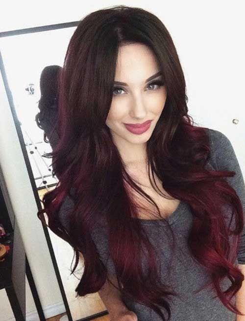 25 Dunkle Haarfarbe Ideen Haarfarben Frisuren Und Ombré