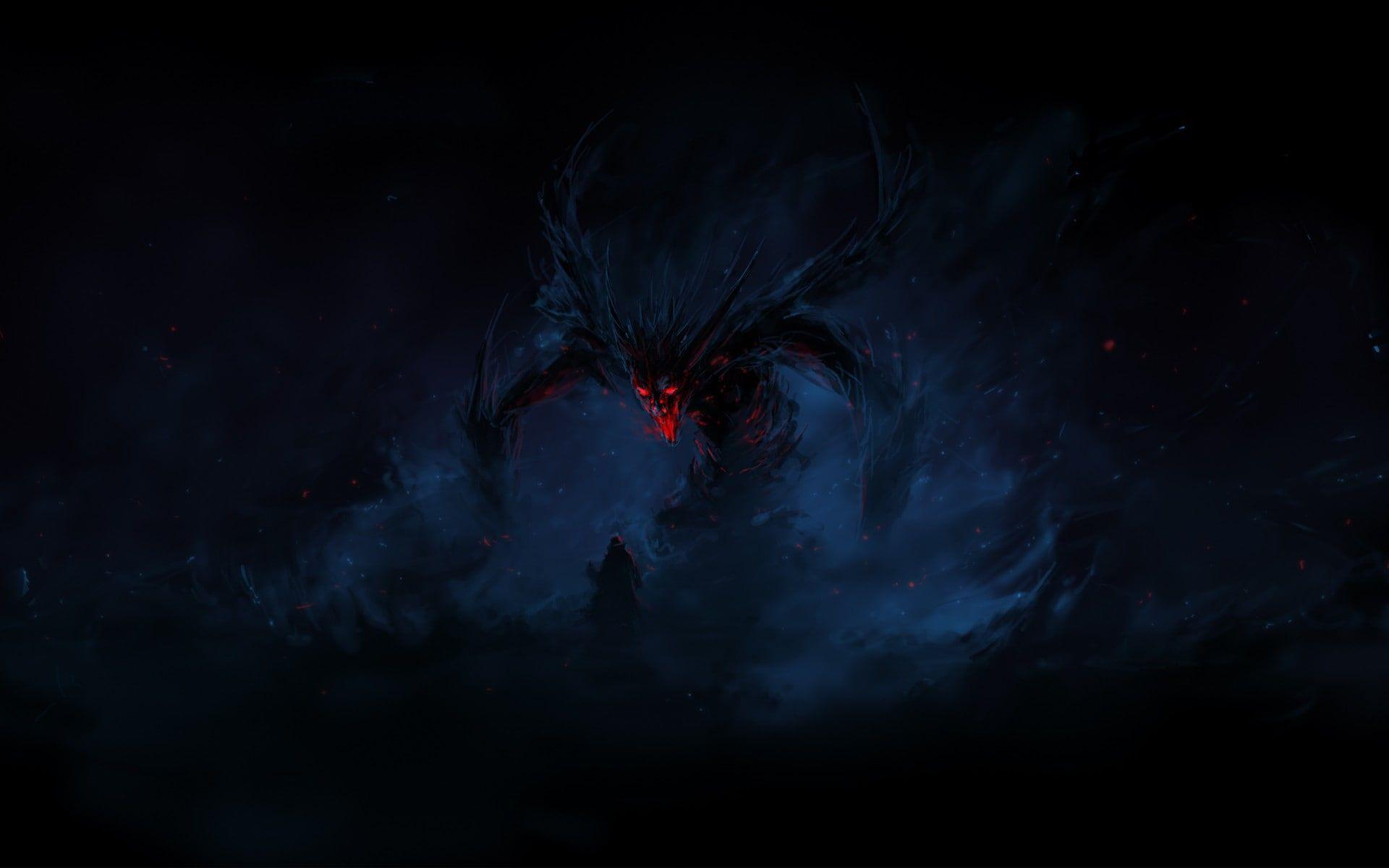 Black And Red Eagle Digital Wallpaper Artwork Fantasy Art Dragon Demon Digital Art 1080p Wallpaper Hd In 2020 Cartoon Wallpaper Hd Scary Dreams Digital Wallpaper