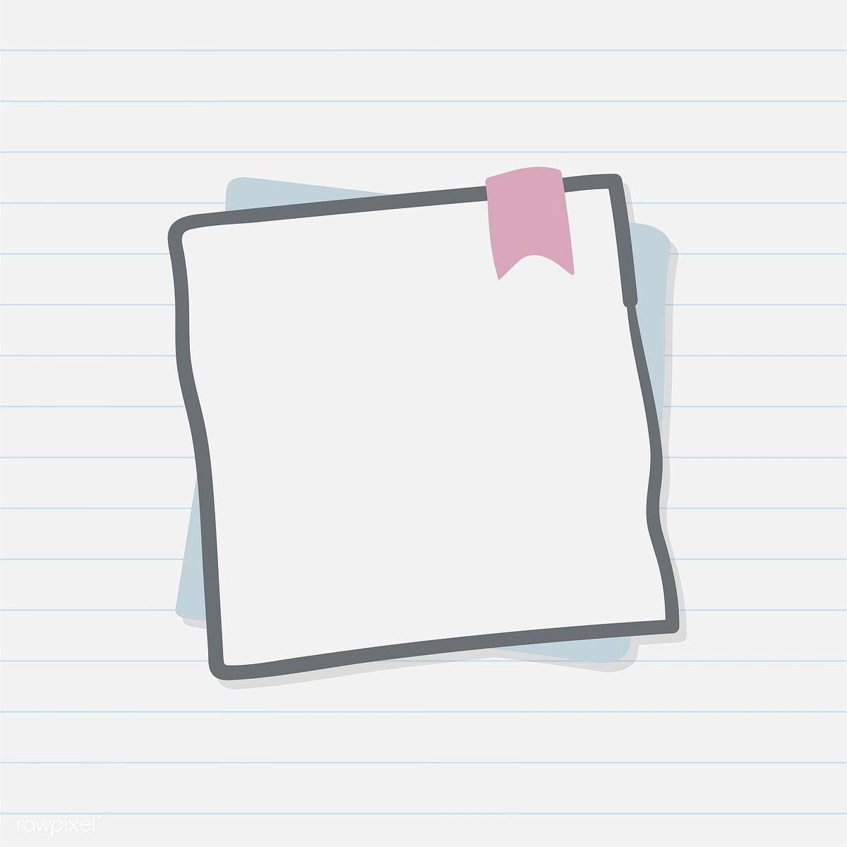 Blank paper note illustration free image by