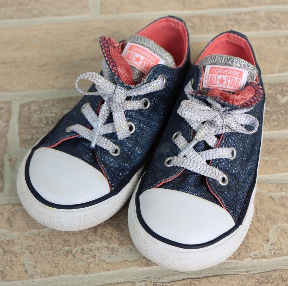 d6a1557c664a8b Converse All Star Blue Pink Double Tongue Glitter Sneakers Shoes Girl  Toddler 10  Converse  CasualShoes