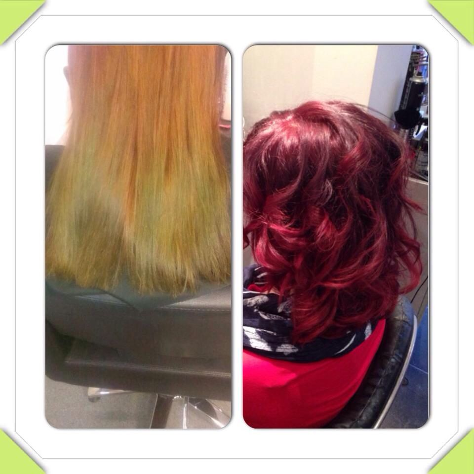 Colour correction #red #ombre #love