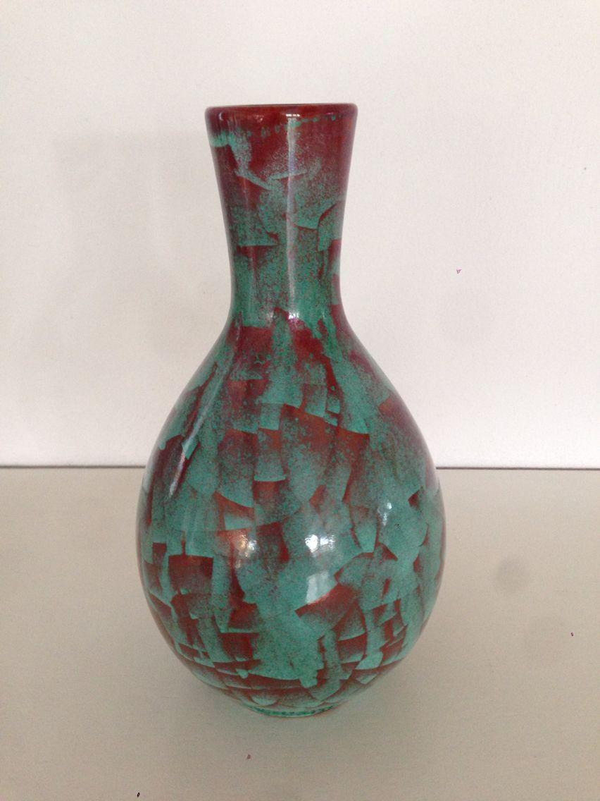 keramik vase Michael Andersen. Keramik vase m. Persia glasur | Bottles and  keramik vase