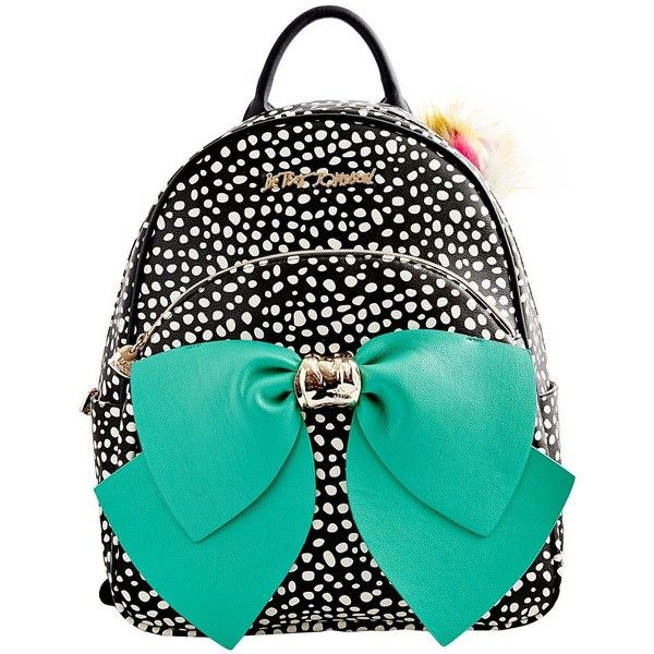 Betsey Johnson Betseyfied Bow Backpack Handbag ( 128) ❤ liked on Polyvore  featuring bags 8e5ad48ca004a