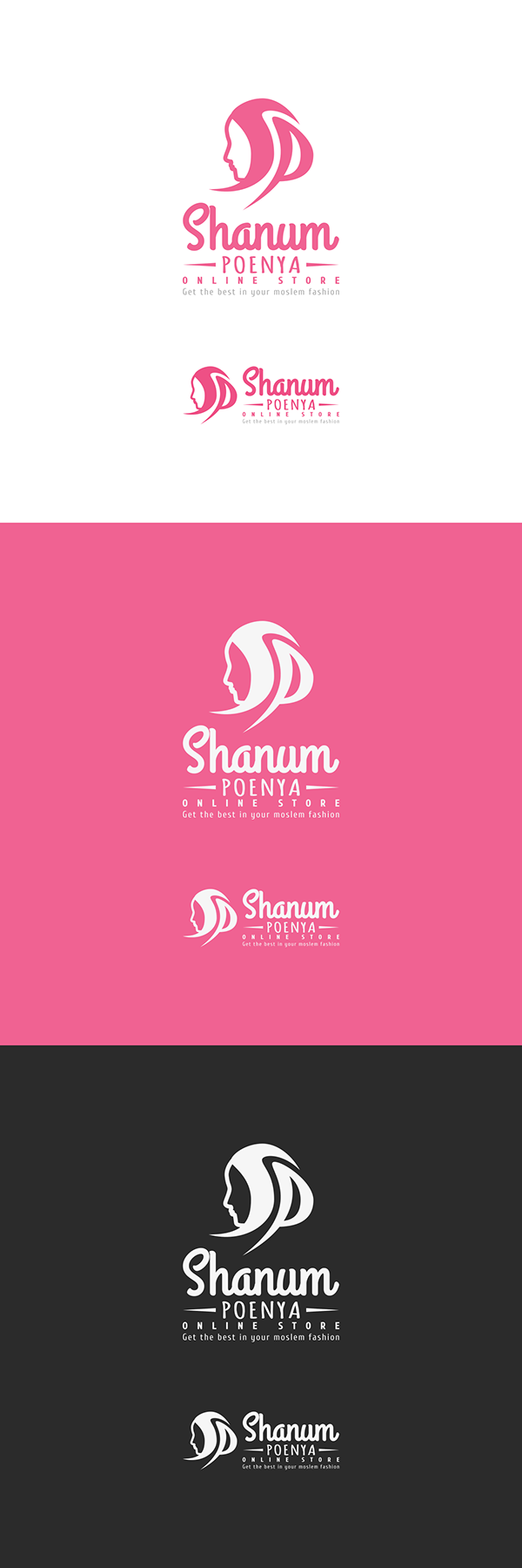 Check on my Behance: Shanum Poenya Logo Design (Hijab, Online