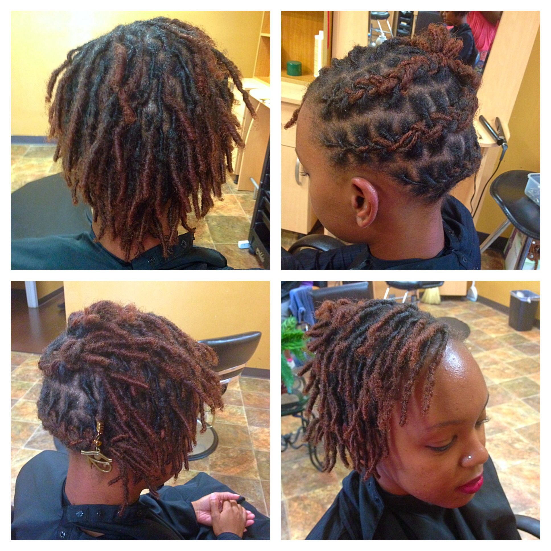 first style: short starter/baby loc style | loc love | hair