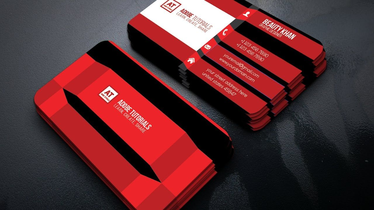 Awesome creative business card design adobe tutorials ruchi awesome creative business card design adobe tutorials reheart Image collections