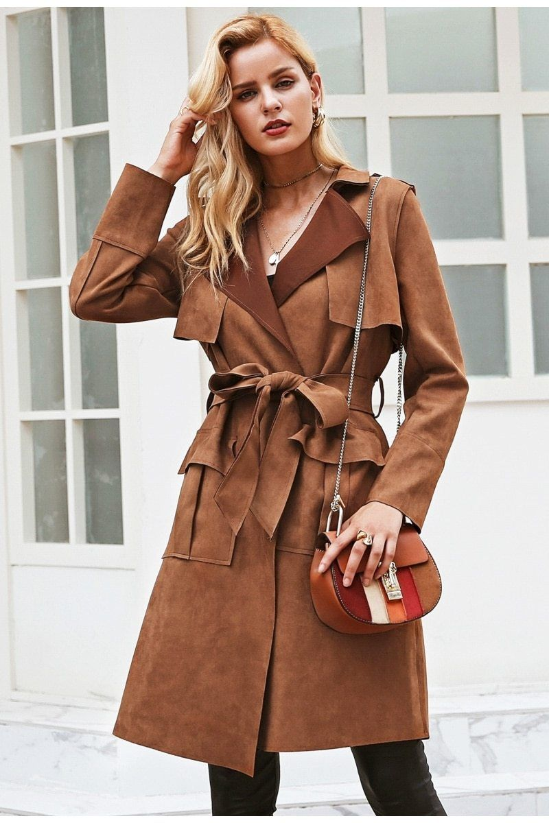 4c29986a8d Suede Trench Coat #fit #me #like #men #womenempowerment #moda #instagood  #portrait #photo #follow