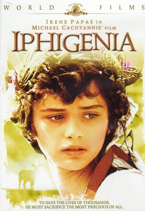 IPHIGENIA (1977) Director: Michael Cacogiannis. Iphigenia receive an Oscar nomination for Best Foreign Language Film. It was also nominated for Palme d'Or (Cannes). Once again an all Greek cast with Irene Pappas in the starring role. Music by Greek composer Mikis Theodorakis.