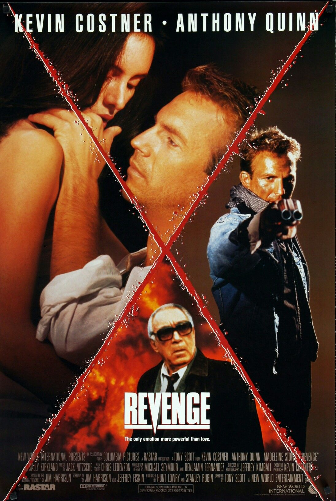 Revenge 1990. Kevin Costner, Madeleine Stowe and Anthony Quinn. Underrated.