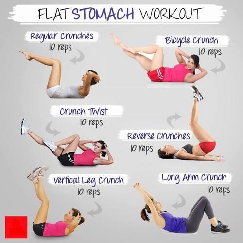 Flat stomach workout - falt all over