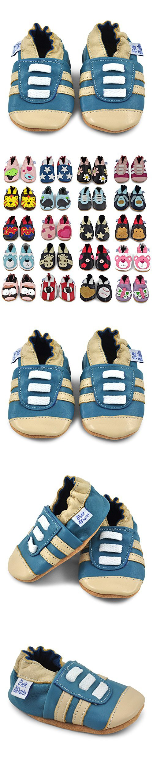 8cf216afa6141 Petit Marin Beautiful Soft Leather Baby Shoes with Suede Soles – Toddler    Infant Shoes - Crib Shoes – Baby First Walking Shoes - Pre-walker Shoes  ...