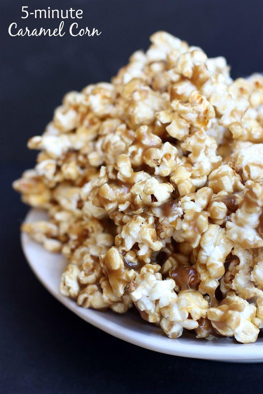 5-minute Caramel Corn on MyRecipeMagic.com