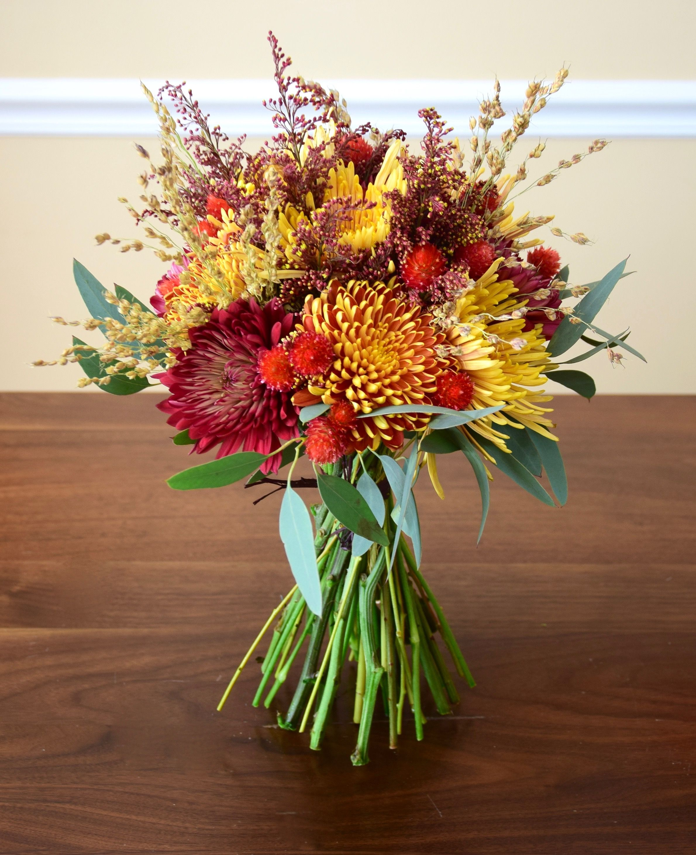 Fall handtied flower bouquet. Flower delivery, Flower
