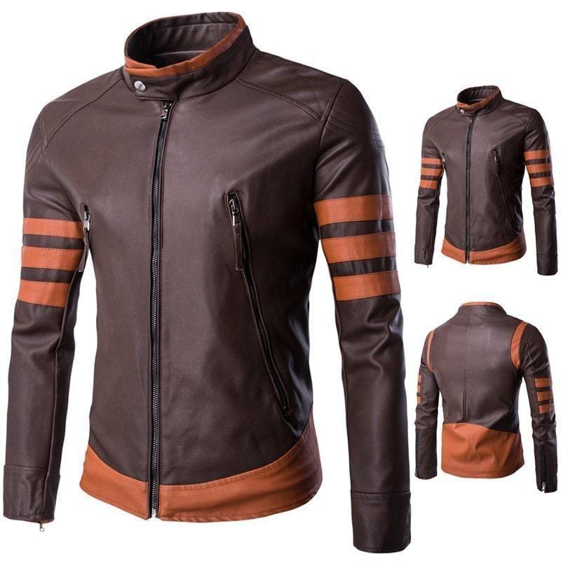 X-Men Wolverine Logans XO Replica Leather Jacket Biker Style