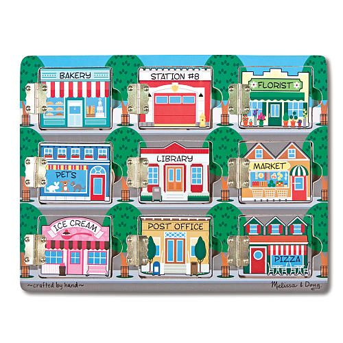 Melissa Doug Magnetic Hide And Seek Activity Board Town