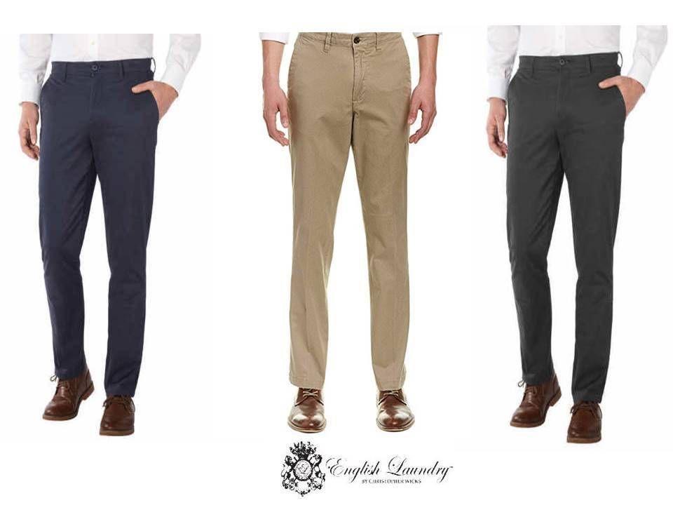 English Laundry Mens Straight Leg Flex Waist Comfort Chinos