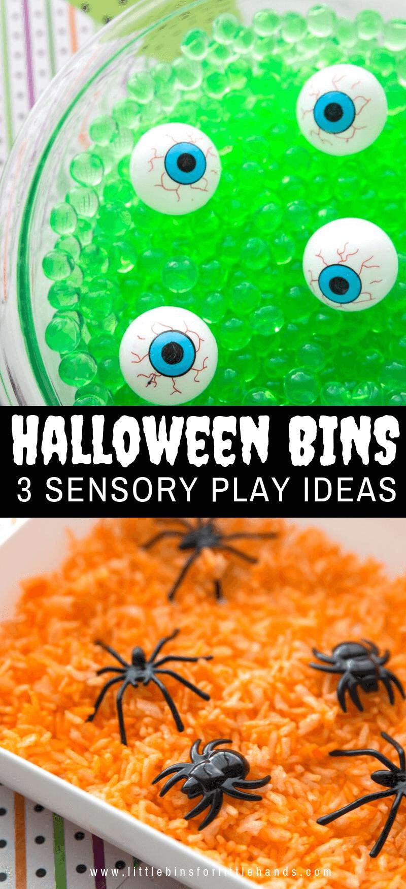 Super Simple Halloween Sensory Bins (3 Ways To Play!) #sensorythings