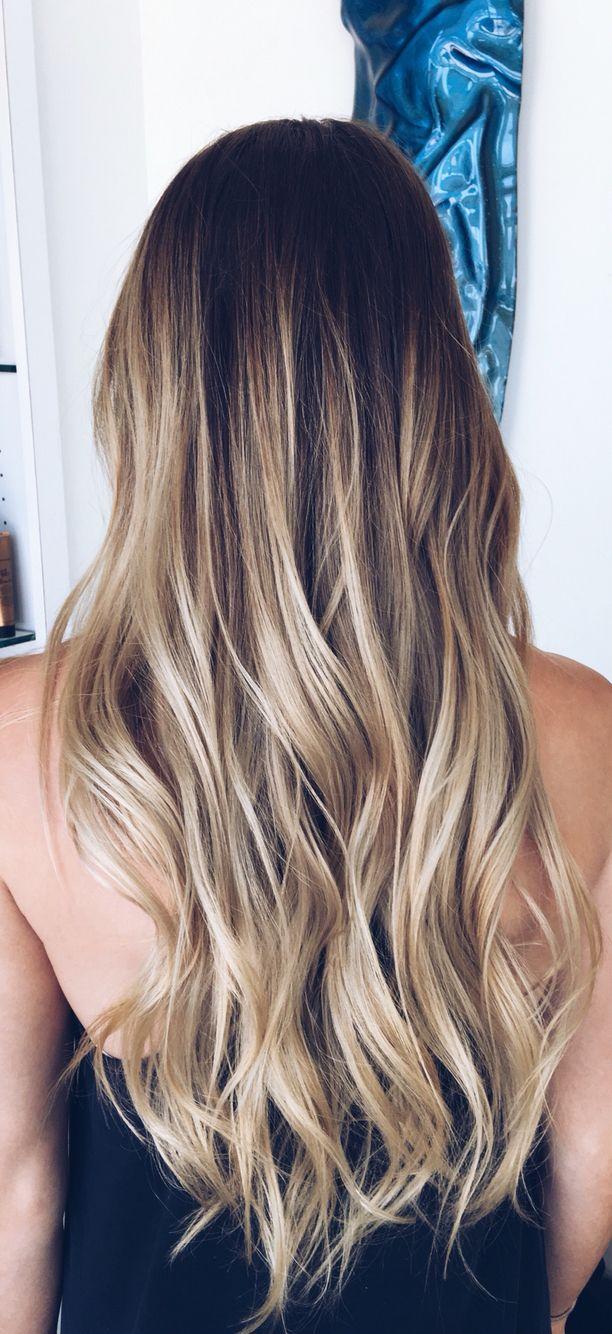 Balayage blonde brunette long longhair hair hair pinterest