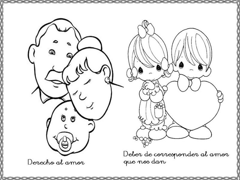 Dibujos Para Colorear Derechos Y Deberes Del Niño Colorear