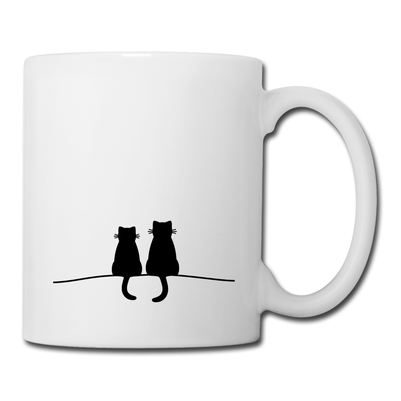 Lieblingsstücke by FrauK. | Katze Katzenpaar Katzen Paar Geschenkidee - Tasse