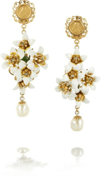 756ea70cc Women's Metallic Gold-plated Swarovski Crystal and Faux Pearl Clip ...