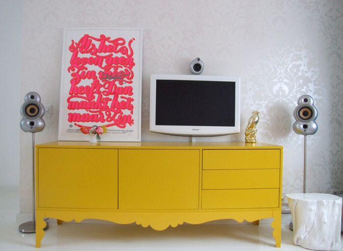 Credenza Trollsta Ikea : Sideboard zauberhaft gelb ideen fein trollsta