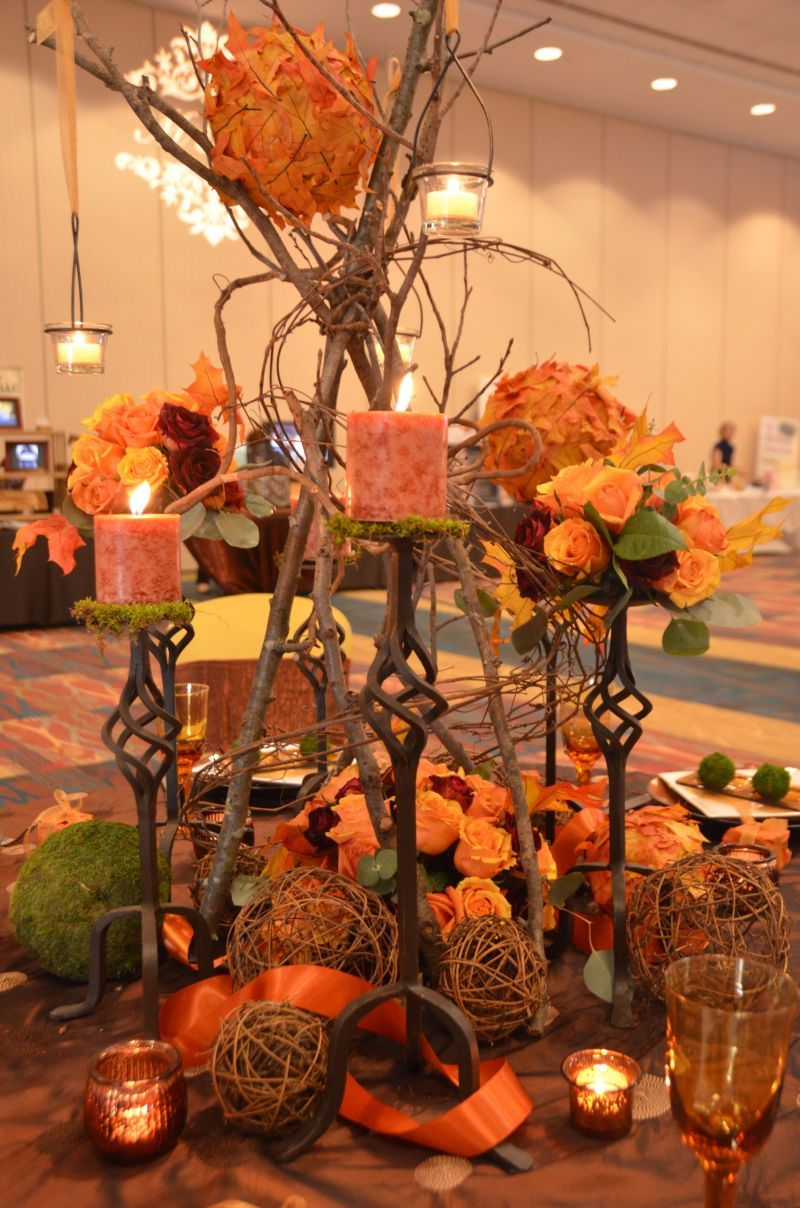Fall Table Decorations | ... Twigs Create A 3 Dimensional Appeal To The