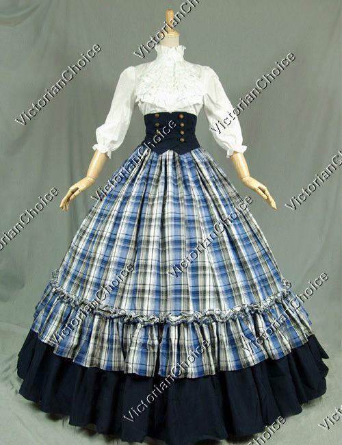 Victorian Civil War Period Dress Ball Gown Theatre Reenactment Clothing f178b2f01eb3