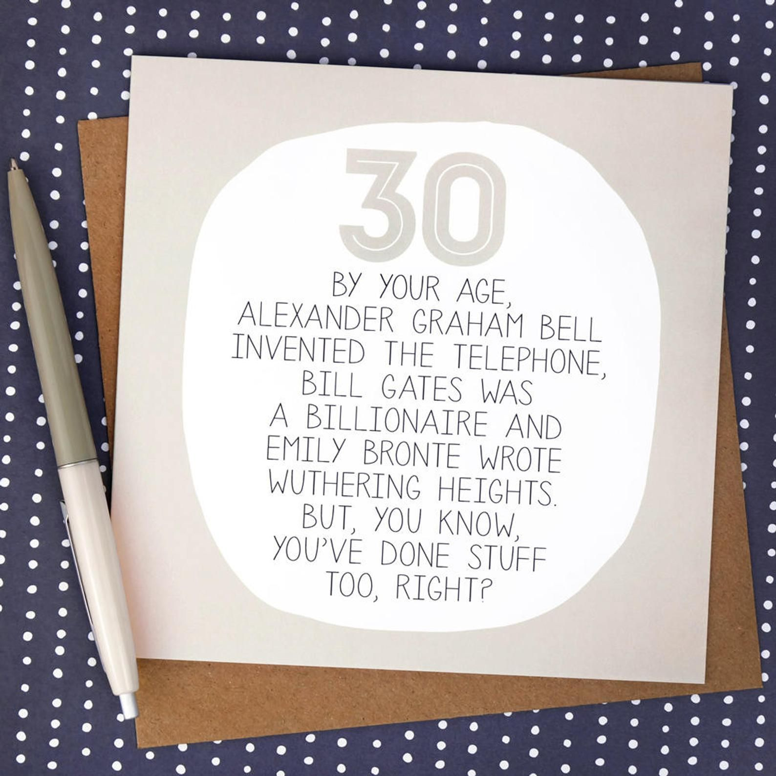 Funny 30th Birthday Card Etsy Funny 30th Birthday Cards 30th Birthday Cards Birthday Card Messages