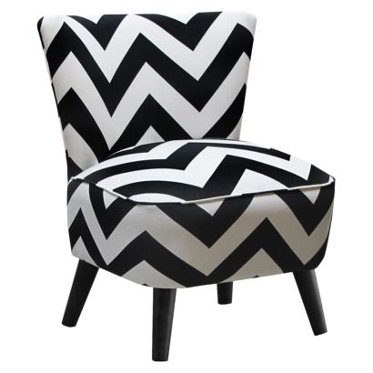 Admirable Black White Mid Century Modern Chevron Accent Chair 195 Theyellowbook Wood Chair Design Ideas Theyellowbookinfo