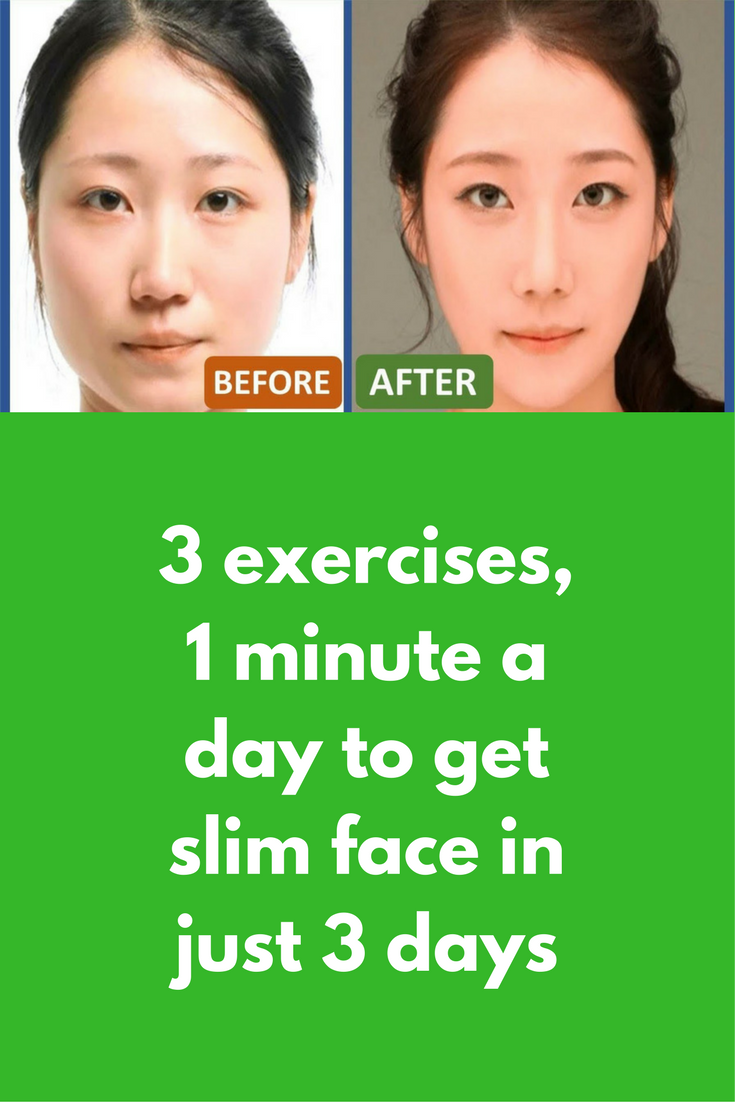 3 Exercises 1 Minute A Day To Get Slim Face In Just Few Days