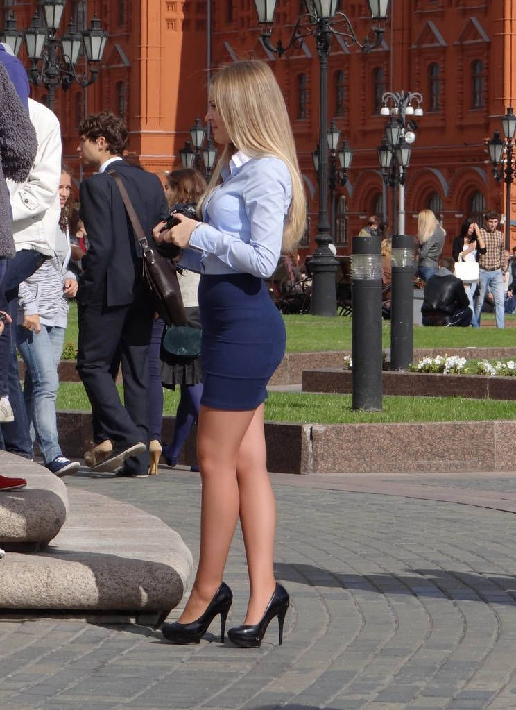 Her Skirt was too tight to Come up to step of the bus. Then this Happened