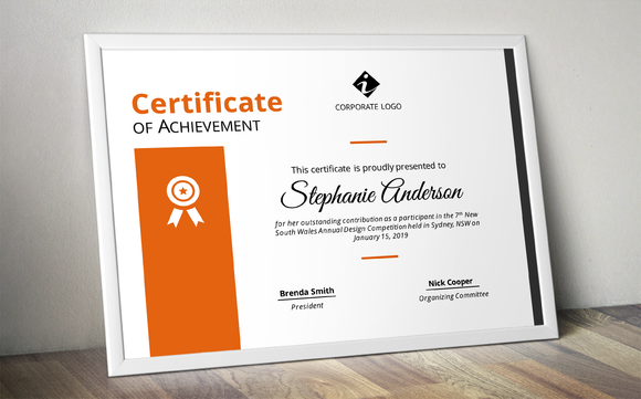 Corporate Powerpoint Certificate  Certificate Stationery