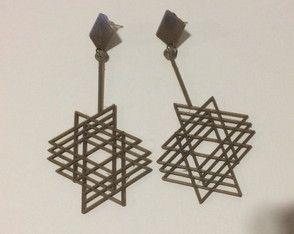 Brinco Estrelar *** Peças personalizáveis, feitas através de impressora 3D