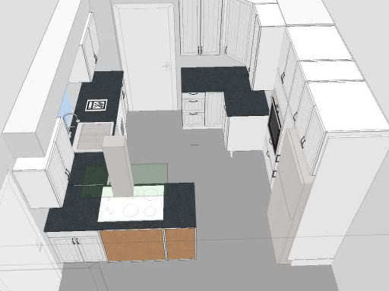 Small Galley Kitchen First Layout