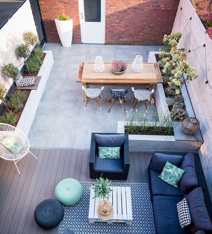 deco terrasse zen avec coin détente, table basse en palette ...